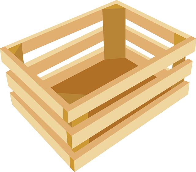 dřevěná přepravka