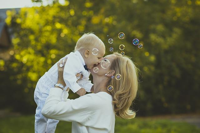 šťastná maminka